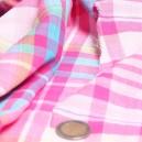 Coton tissé teint a carreaux double épaisseur reverssible