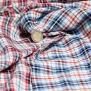 Coton tissé teint à carreaux double épaisseur reversible