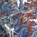 Coton viscose / motif cachemire
